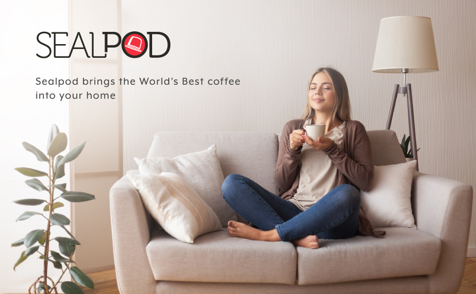 Tasting a great cup of coffee with sealpod