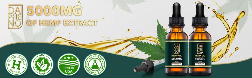 Natural hemp oil for pain