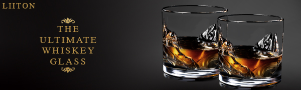 LIITON Whiskey Glasses; Whiskey Glass; Whiskey Glass for Men; Drink Glasses: Alcohol; Wedding Gifts