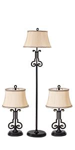 Violin Shape Shank Style lamp set