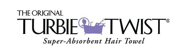 Turbie Twist Hair Towel Logo Cotton Microfiber