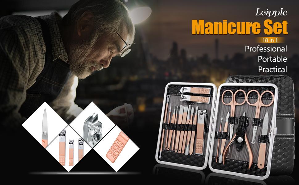 manicure set pedicure lit nail clippers
