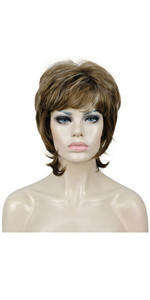 Short Layers Shaggy Full Wig Natural Wavy Wigs Synthetic Hair