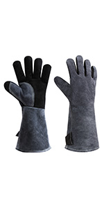 Leather Welding BBQ Gloves