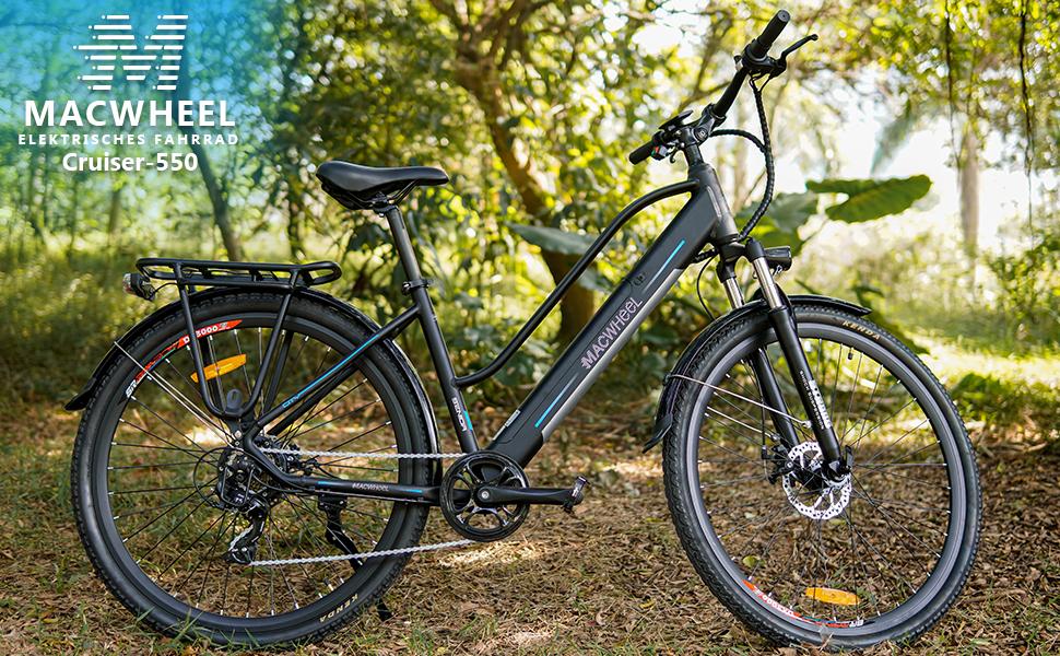 Macwheel E Bike 36 V 10 Ah 12 5 Ah City Trekking Mountain Bike E Bike With 7 Speed Shimano Derailleur Gear 27 5 28 Inch Electric Bicycle Men Women Sport Freizeit