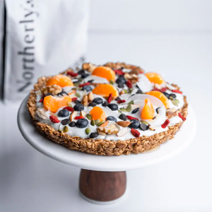 oat breakfast pizza