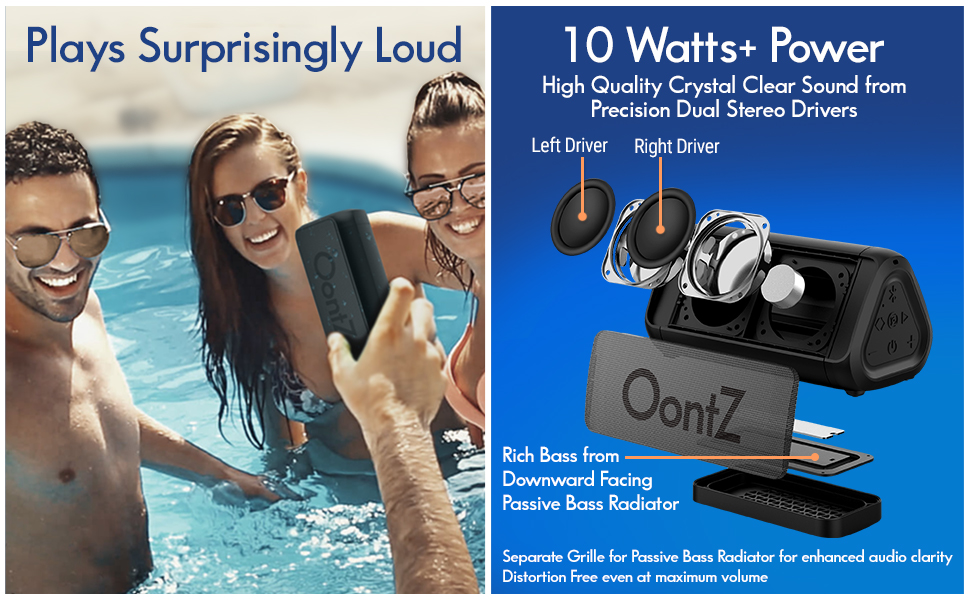 OontZ Angle 3 Shower - PLUS Edition Bluetooth Speaker with Alexa