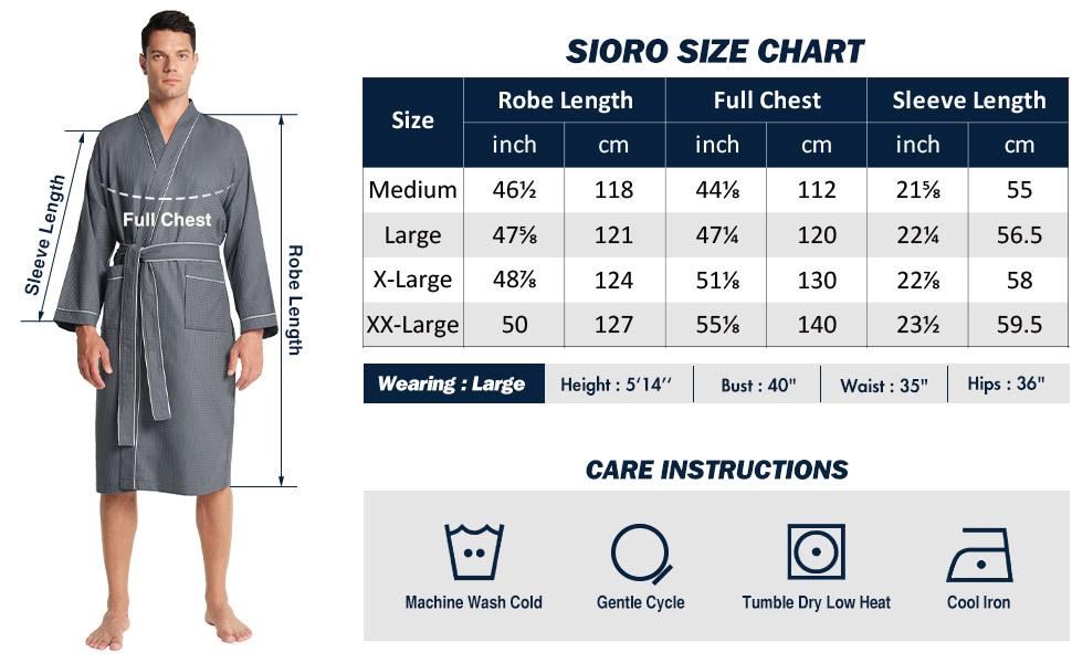 plus size mens bath robe