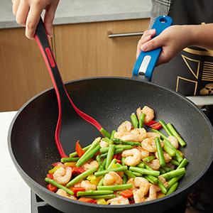 high heat spoonula heat resistant flexible rice crepe blackstone pie server spatula set
