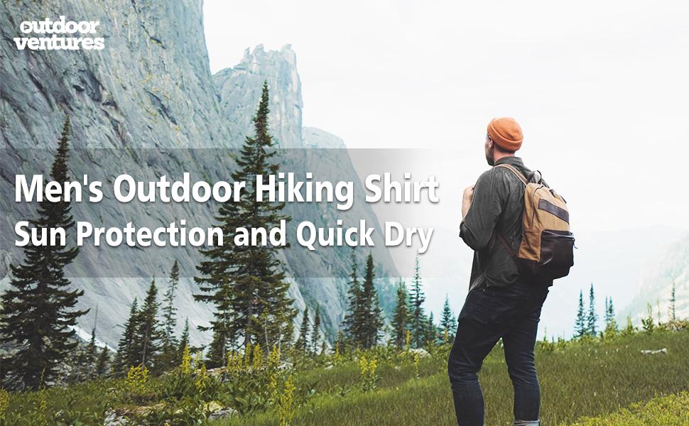 mens outdoor hiking shirt sun protection and quick dry sun shirt