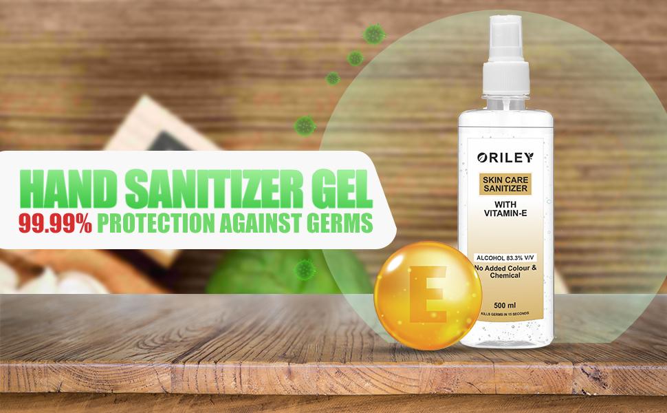 Hand Sanitizer Mist with Vitamin-E 83.3% Isopropyl Alcohol Spray-based Liquid Rinse-free Germ