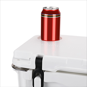 cooler with cup holder