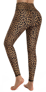 Brown Leopard Tummy Control Leggings