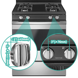 kitchen stoves cooktop cover baby proof oven knob cover gas protector baby proofing stove knobs lock
