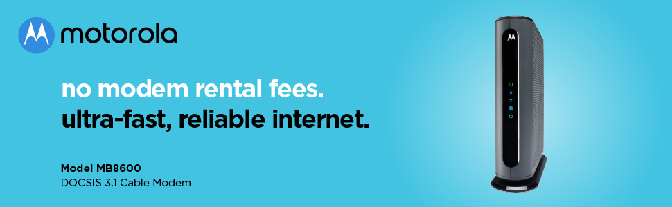 No modem rental fees. Ultra-fast, reliable Internet.