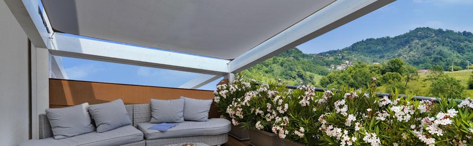 Cool Area Toldo Vela de Sombra Rectangular 4 x 5 Metros, Impermeable Protección UV para Patio Exteriores Jardín, Color Gris: Amazon.es: Jardín