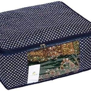 Saree Organiser,Navy Blue Saree Cover,Large Saree Cover,Saree Cover,Cotton Saree Cover,storage bag