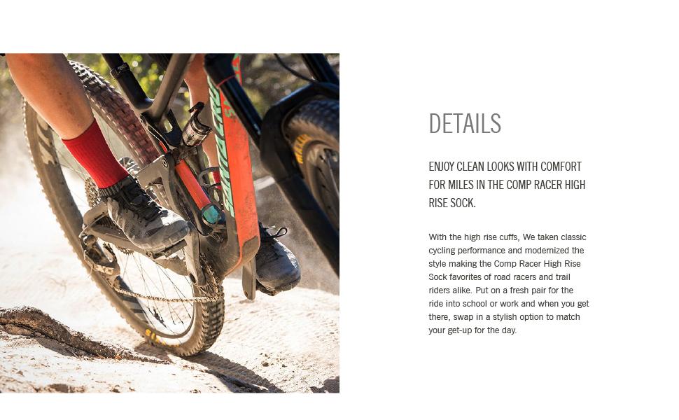 giro comp high rise bike cycling socks details