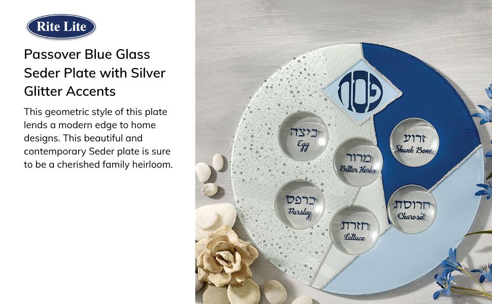 Glass seder plate