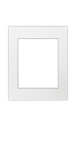 11 x 14 inch white single matte