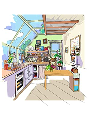 Amazon Com Rolife Miniature Dollhouse Kit 1 24 Scale Diy Wooden Kitchen Mini House Furniture Best Gift For Friends Lovers Family Home Decor Toys Games
