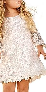 Boho Scalloped Dress