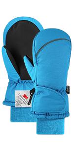 que se puede utilizar para esquiar tiene la funci/ón de a prueba de viento e impermeable correr u otros deportes en invierno. Fazitrip 3M Thinsulate guantes para ni/ños montar en bicicleta