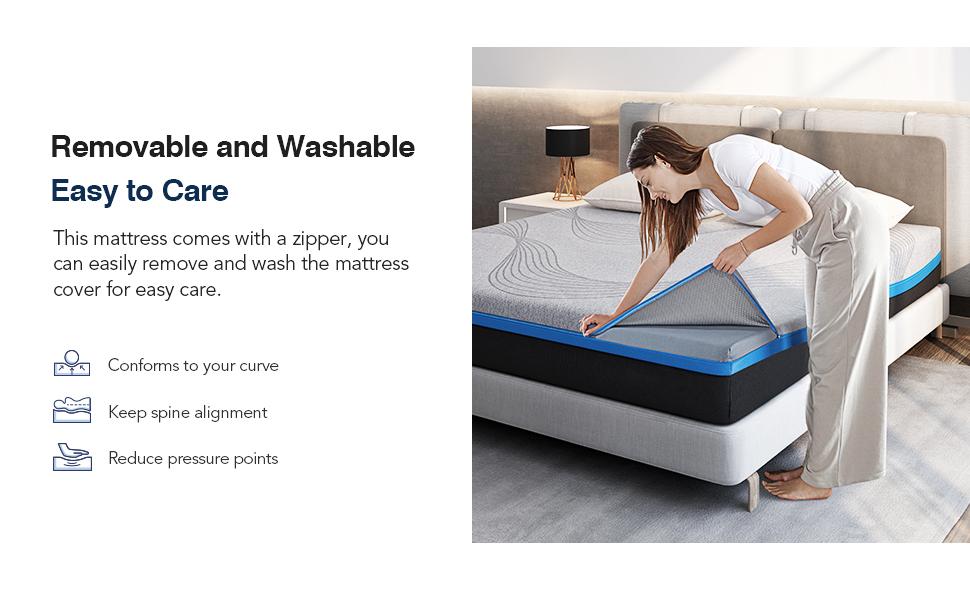 mattress memory foam mattress queen king full twin xl cal size mattress in a box avenco