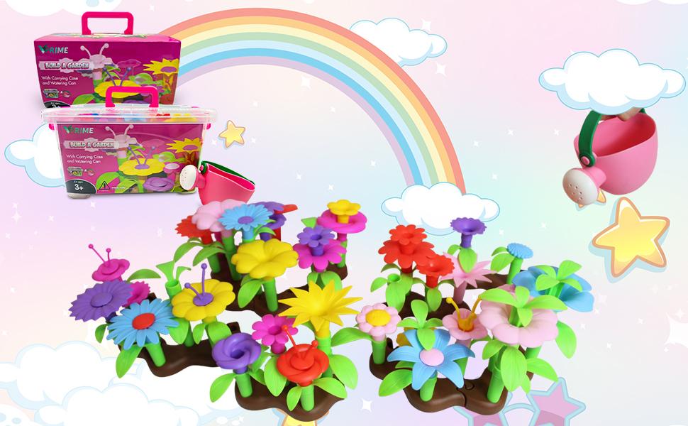 Flower garden watering toys