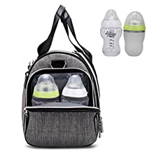 Hafmall diaper bag with insulated pockets