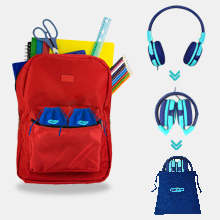 foldable design kids headset