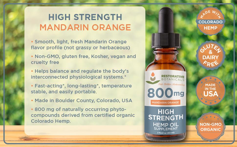 High Strength 800 Mandarin Orange