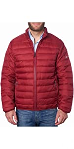 mens puffer jacket down alternative zipper jacket