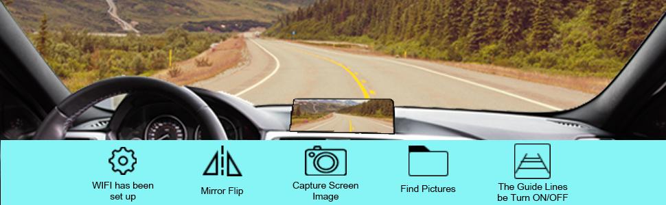 Backup Camera Settings Menu