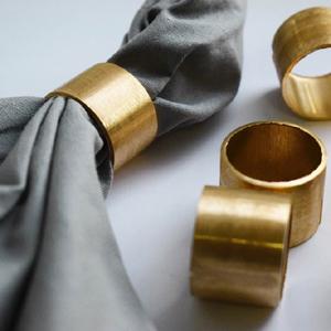 Gold Napkin Rings Set