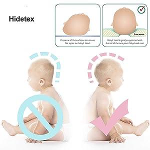 funda de almohada IWILCS almohada para beb/é contra la cabeza plana contra la deformaci/ón de la cabeza plana Forma,azul con almohada ortop/édica para beb/é almohada para beb/é