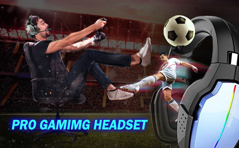PS4 Gaming Headset Pro Gaming Headphone for Xbox one PC with Mic Laptop Tablet Mac Smart Phone