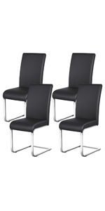 Yaheetech PU Leather Dining Chairs