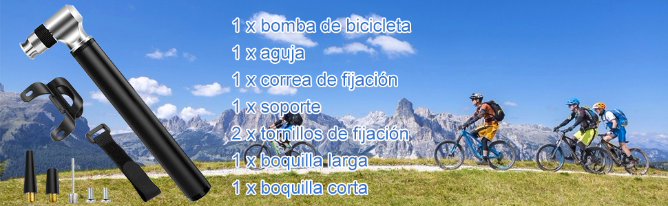 Diyife Bomba Para Bicicleta, [300 PSI][Juego Completo] Mini Bomba ...