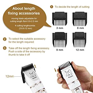 3-6-9-12mm Guide Combs