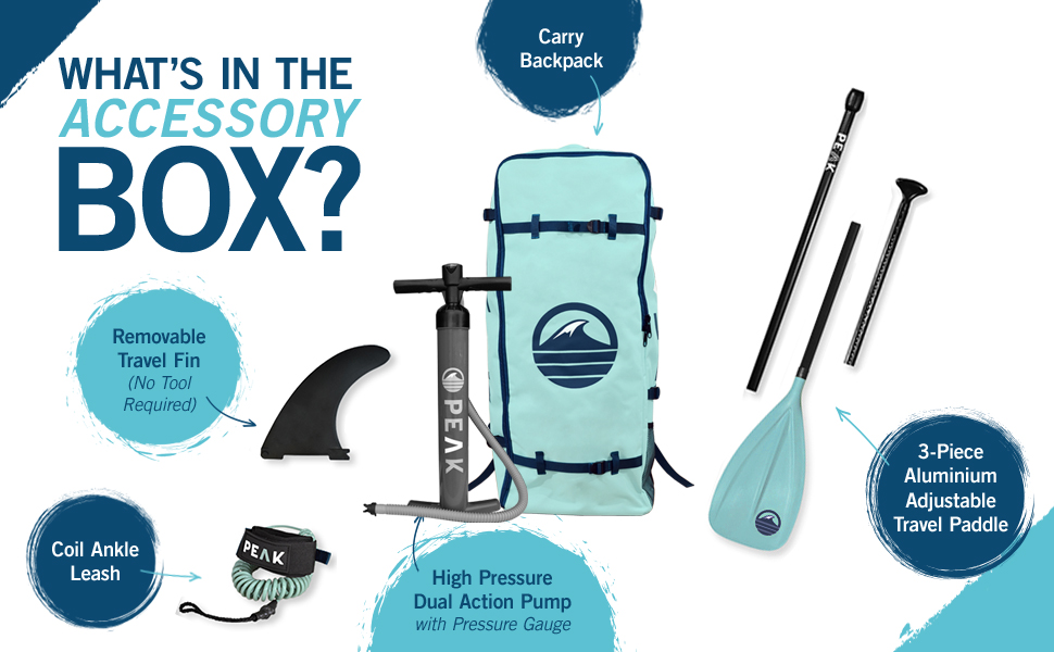 what's in the box removable travel fin carry backpack waterproof phone case adjustable paddle
