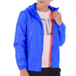 Blue Windbreaker Model Show