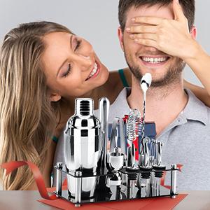 Black Shaker Set for Drink Mixing