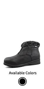 Women's Waterproof Fur-Lined Insulated Winter Boots w/Ice Gripper London