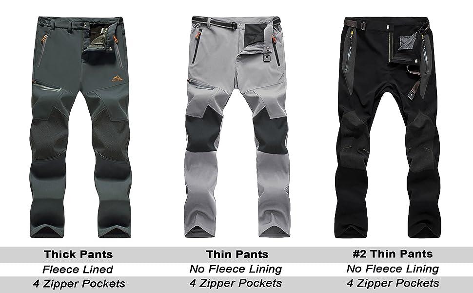 MAGCOMSEN Pantalones de senderismo para hombre para el tiempo libre pesca impermeables senderismo de verano con bolsillos con cremallera de secado r/ápido transpirables