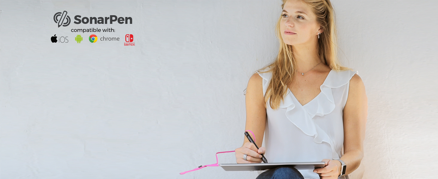 a girl drawing with SonarPen