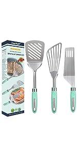 Stainless spatula set