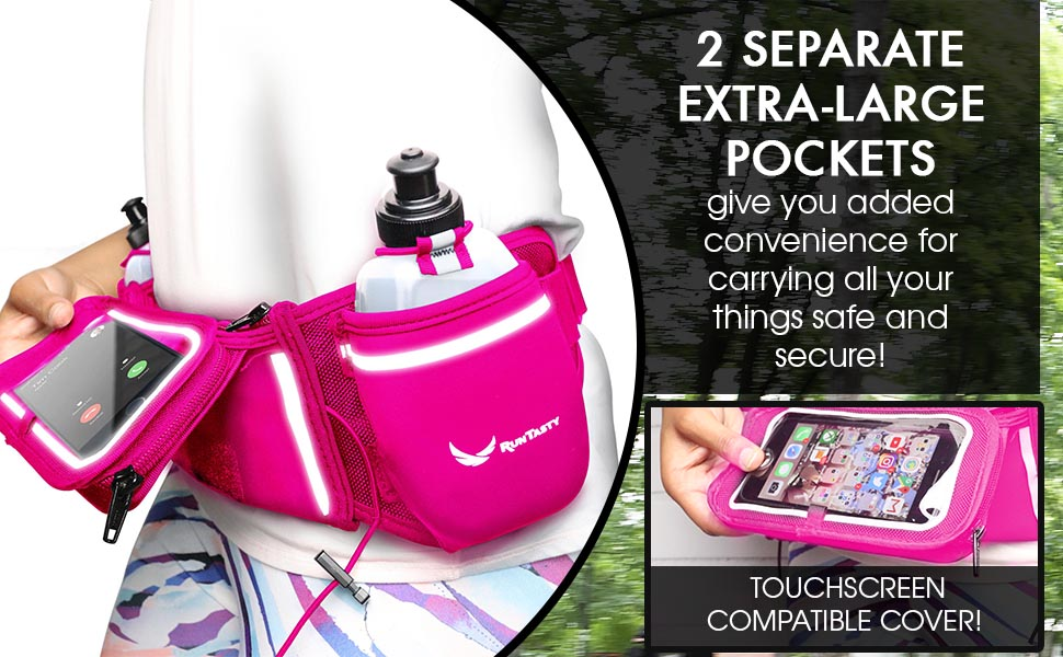 pink blue touchscreen pocket running hydration belt iphone android samsung large x 8 11 Pro note