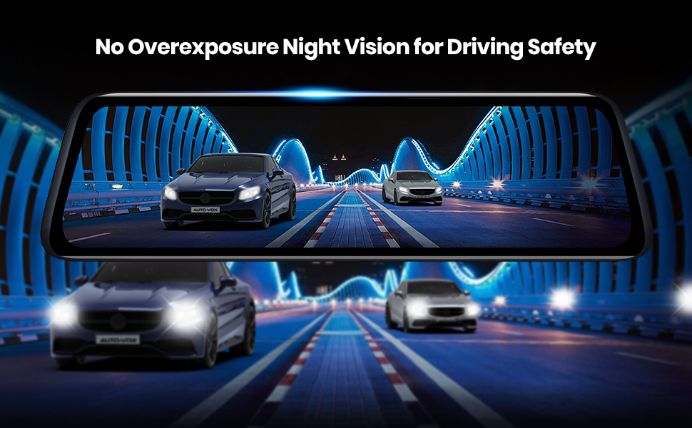 V5PRO Dash Cam without Overexposure Night Vision