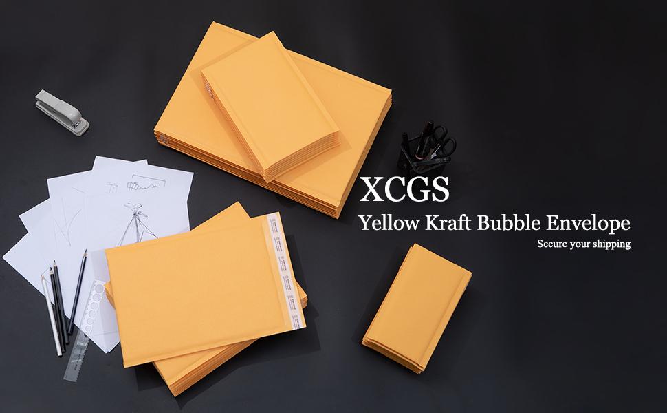 XCGS Yellow Kraft Bubble Mailer